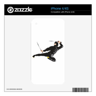Ninja flying kick decals for the iPhone 4