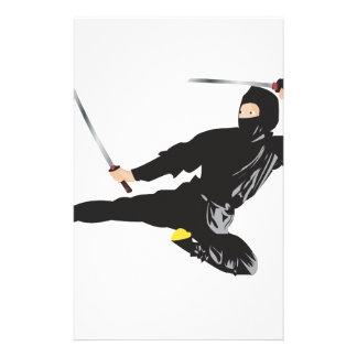 Ninja flying kick stationery