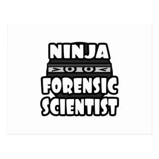 Ninja Forensic Scientist Postcard