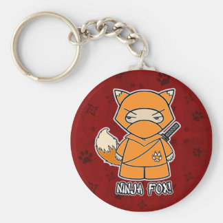 Ninja Fox! In Red Keychain