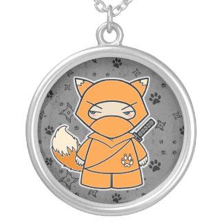 Ninja Fox! Ninjadorables Grey Necklace