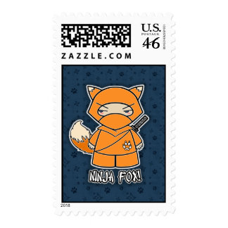 Ninja Fox! Postage Stamp