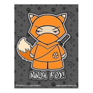 Ninja Fox! Postcard