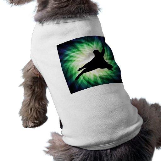 Ninja fresco playera sin mangas para perro