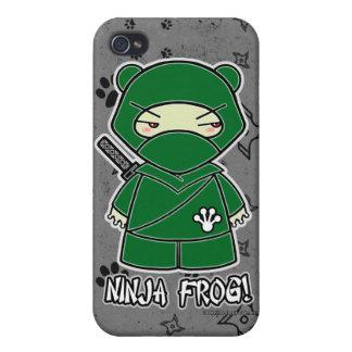 Ninja Frog! Ninja iPhone 4 Case Grey
