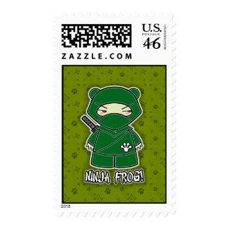 Ninja Frog! Postage Stamp