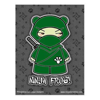Ninja Frog! Postcard