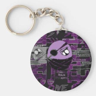 Ninja Fruit:Ninja Grape Basic Round Button Keychain