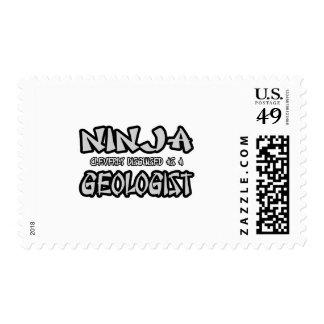 Ninja...Geologist Postage Stamps