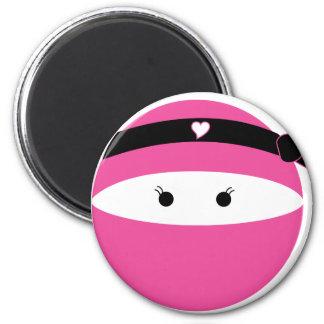 Ninja Girl 2 Inch Round Magnet