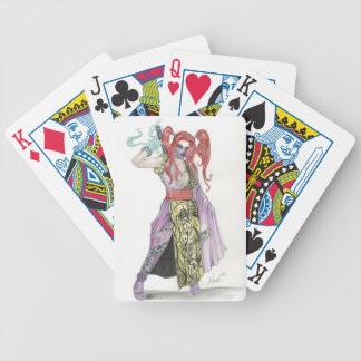 Ninja Girl Bicycle Playing Cards