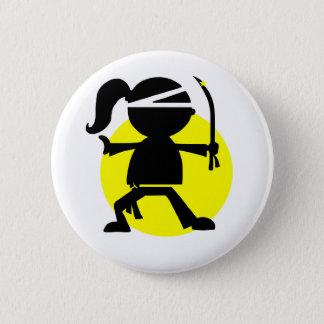Ninja Girl Button
