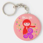 Ninja Girl in Red Keychains