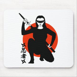 Ninja Girl Mouse Pad