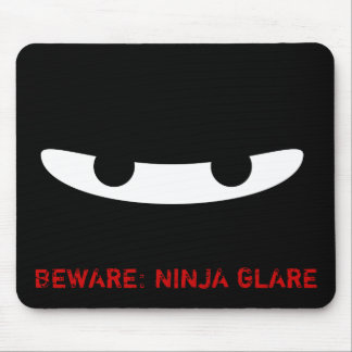 Ninja Glare! Mouse Pad