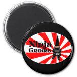 Ninja Gnome 2 Inch Round Magnet