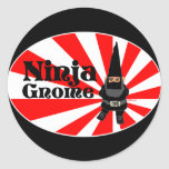 Ninja Gnome Classic Round Sticker