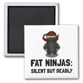 Ninja gordo imán cuadrado