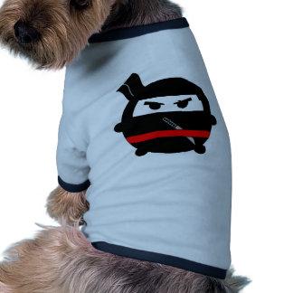 Ninja gordo camisetas de mascota