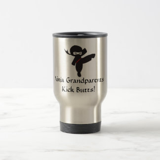 Ninja Grandparents Kick Butts! Travel Mug