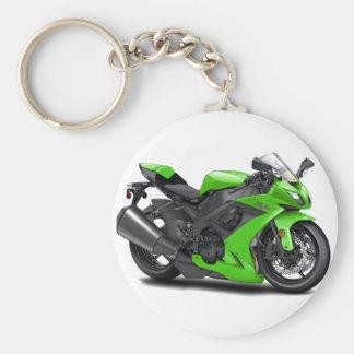 Ninja Green Bike Key Chain