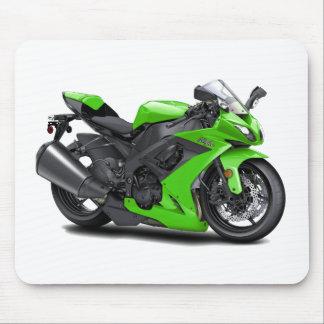Ninja Green Bike Mouse Pad