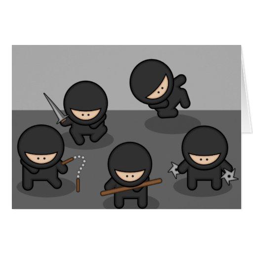 Ninja Greeting Card or Note Card (Blank Inside)