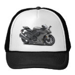 Ninja Grey Bike Trucker Hat