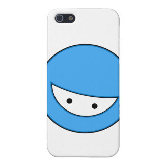 Ninja hace frente azul iPhone 5 protectores