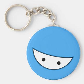 Ninja hace frente (azul llaveros personalizados