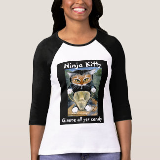 Ninja Halloween Kitty tee shirt