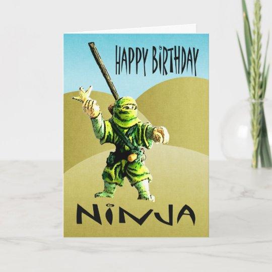 Ninja Happy Birthday Card Zazzle