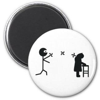 ninja icon fridge magnet