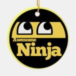 Ninja impresionante ornamento de navidad