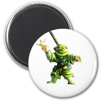 Ninja in Green Refrigerator Magnets