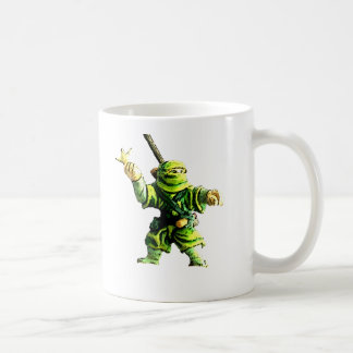 Ninja in Green Coffee Mugs