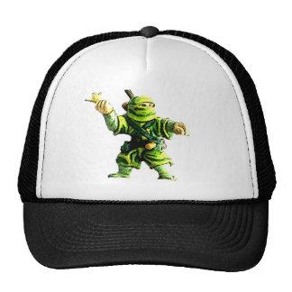 Ninja in Green Trucker Hat