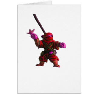 Ninja in Red Greeting Cards
