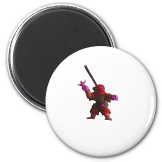 Ninja in Red Fridge Magnet