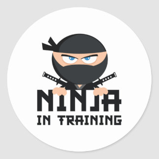 Ninja In Training Classic Round Sticker