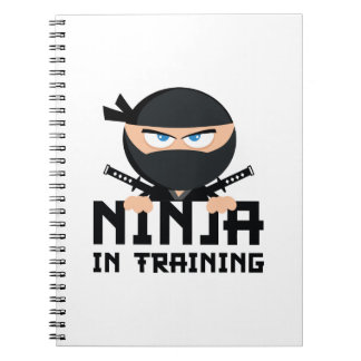 Ninja In Training Spiral Note Book