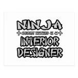 Ninja...Interior Designer Postcard