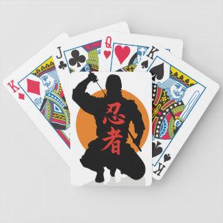 NInja kanji Bicycle Playing Cards
