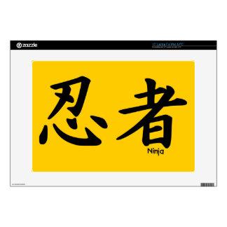 """NINJA KANJI JAPANESE CHINESE symbols language icon Skins For 15"""" Laptops"""