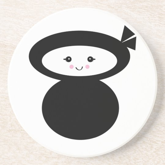 ninja kawaii dolly drink coaster