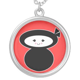 ninja kawaii dolly round pendant necklace
