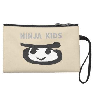 NINJA KIDS suede mini- clutch