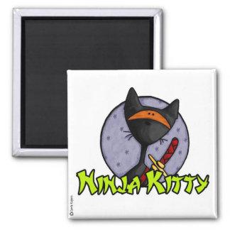 ninja kitty 2 2 inch square magnet