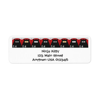 Ninja Kitty Address Avery Label