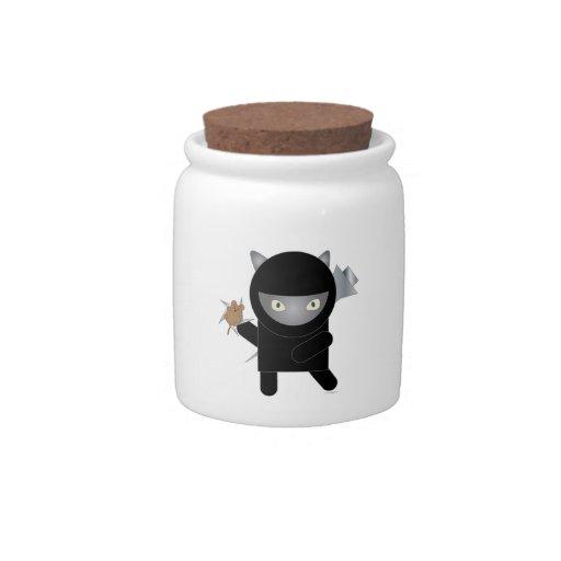 Ninja Kitty Candy Jar